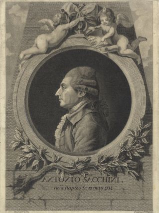 Fine portrait engraving by L.J. Cathelin after L. Jay. Antonio SACCHINI