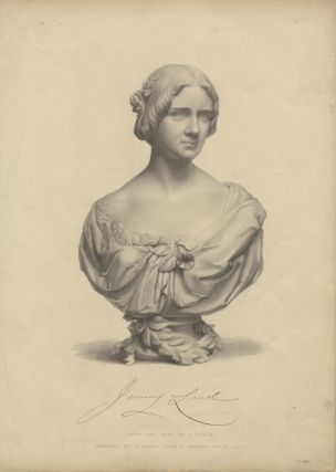 Engraving by W. Roffe after F. Roffe of the bust by J. Durham. Jenny LIND