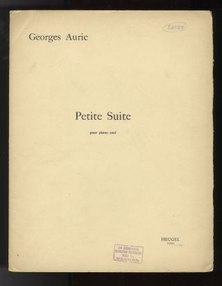 Petite Suite [Solo piano]. Georges AURIC