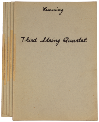 Third String Quartet [Score and parts]. Otto LUENING