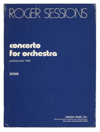 Concerto for Orchestra [Full score]. Roger SESSIONS