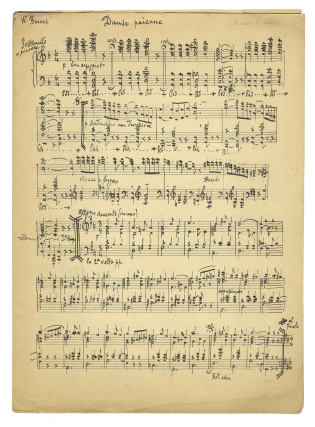 Collection of musical manuscripts, possibly autograph. Evanghelos BARVAS