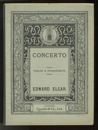 Op. 61]. Concerto for Violin and Orchestra [Score and part]. Edward ELGAR