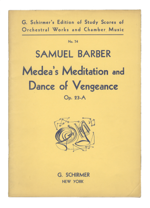 Op. 23a]. Medea's Meditation and Dance of Vengeance [Study score]. Samuel BARBER