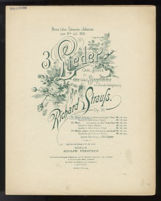 Collection of lieder. [Piano-vocal scores]