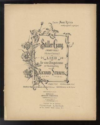 Collection of 6 lieder. [Piano-vocal scores]