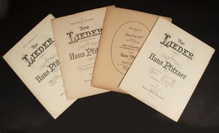 Collection of first and early editions of 30 songs for voice and piano