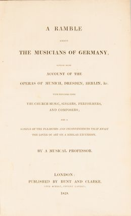 A Ramble among the Musicians of Germany, Edward HOLMES