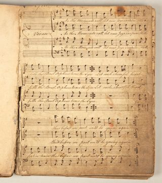 Mid-19th century manuscript collection of English glees, anthems, and hymns