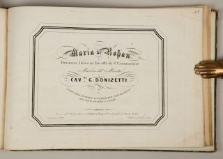 Bound volume of 19th century Italian operatic excerpts in piano-vocal score, most Neapolitan imprints and associated with contemporary performances