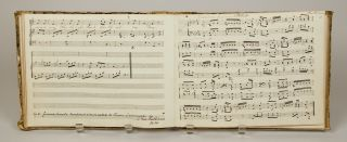 Musical manuscript containing operatic arias, vocal works, works for voice and keyboard and....